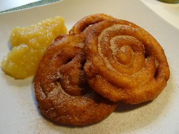Kartoffel-Spiralen mit Zimt-Zucker und Apfelkompott - Rezept - Bild Nr. 7756