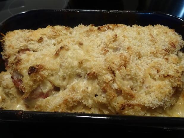 Putenbrust-Röllchen aus dem Ofen, überbacken mit knusprig-cremigem Zwiebel-Topping - Rezept - Bild Nr. 7757