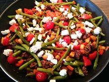 Gemüsepfanne mit Hackfleisch und Feta - Rezept - Bild Nr. 7756