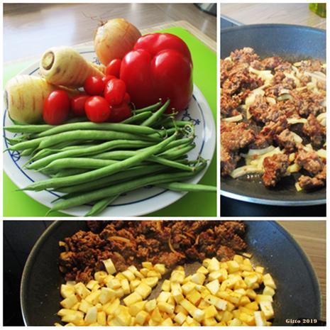 Gemüsepfanne mit Hackfleisch und Feta - Rezept - Bild Nr. 7757