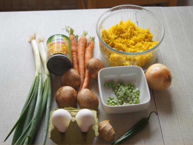 Gebratener Gemüse-Eier-Reis - Rezept - Bild Nr. 7757