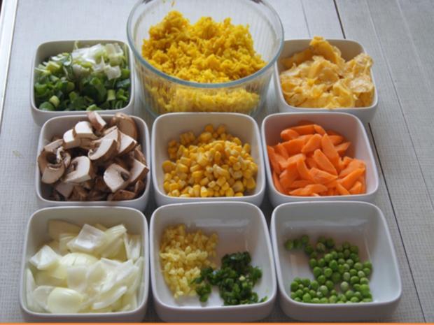Gebratener Gemüse-Eier-Reis - Rezept - Bild Nr. 7761
