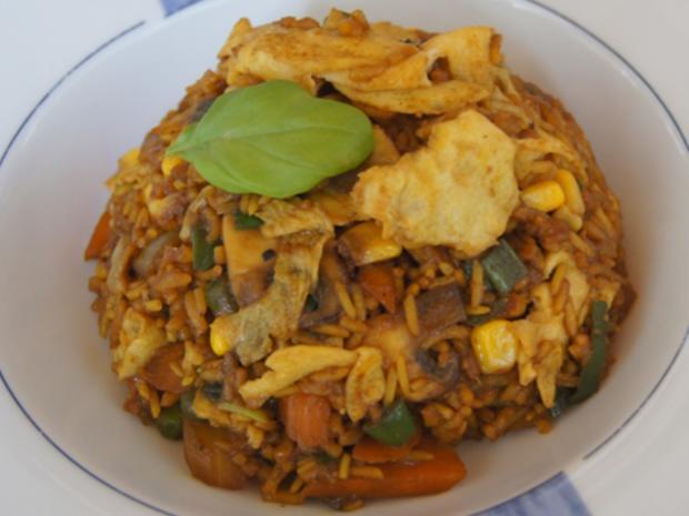 Gebratener Gemüse-Eier-Reis - Rezept - Bild Nr. 7770