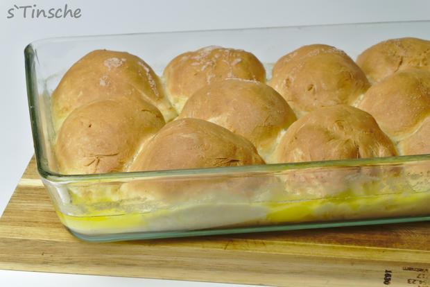 Hähnchen-Bolognese mit Mozzarella-Dampfnudeln - Rezept - Bild Nr. 7771