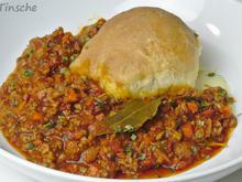 Hähnchen-Bolognese mit Mozzarella-Dampfnudeln - Rezept - Bild Nr. 7776