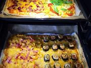 Pizza Quattro Stagione mal anders - Rezept - Bild Nr. 7756