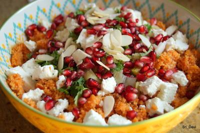 Couscous-Salat mit Feta und Granatapfel - Rezept - Bild Nr. 2
