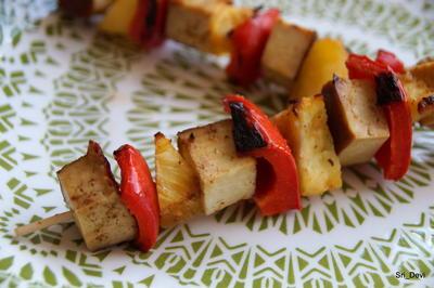 Rezept: Grillen: Hawai-Tofu-Spieße
