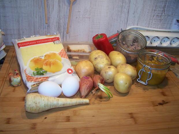 Kartoffelsuppe mit Einlage und Beilage - Rezept - Bild Nr. 7786