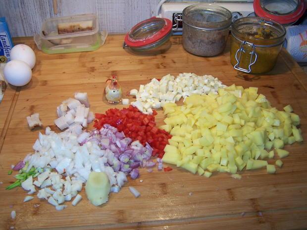 Kartoffelsuppe mit Einlage und Beilage - Rezept - Bild Nr. 7787