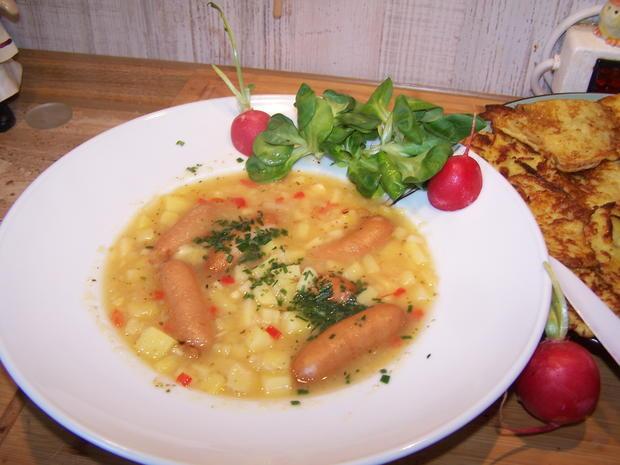 Kartoffelsuppe mit Einlage und Beilage - Rezept - Bild Nr. 7798