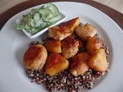 Ananashähnchen auf Quinoa-Tricolore mit Gurkensalat - Rezept - Bild Nr. 7789