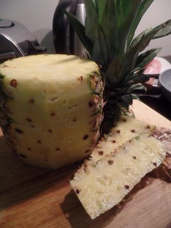 Ananashähnchen auf Quinoa-Tricolore mit Gurkensalat - Rezept - Bild Nr. 7793