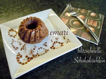 Rezept: Silvia`s blitzschnelle Schokoküchlein