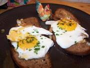 Schnelle Frühstück (geröstetes Bauernbrot mit Spiegelei ) - Rezept - Bild Nr. 7827
