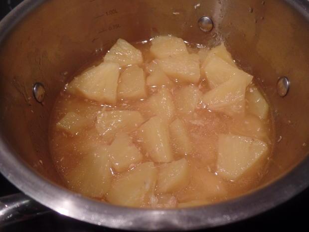 Grießpudding mit Ananas-Kokos-Kompott - Rezept - Bild Nr. 7842