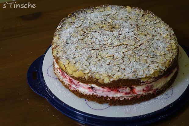 Pistazien-Himbeer-Sahne-Torte - Rezept - Bild Nr. 7861