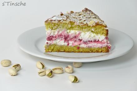 Pistazien-Himbeer-Sahne-Torte - Rezept - Bild Nr. 7865