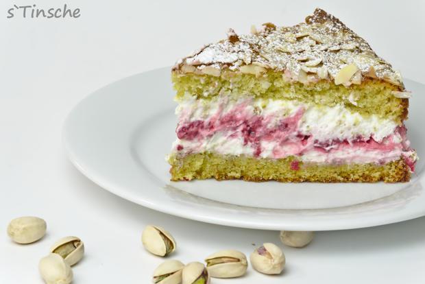 Pistazien-Himbeer-Sahne-Torte - Rezept - Bild Nr. 7867