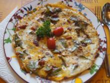 Herzhaftes Zuckerschoten-Tomaten-Omelett - Rezept - Bild Nr. 2