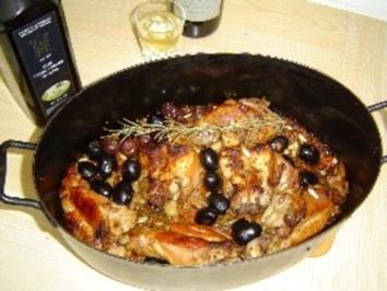Kaninchen mit Oliven und Walnüssen - Rezept