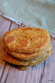 Frühstück: Karotten-Pfannkuchen mit Süßlupinenmehl - Rezept - Bild Nr. 2