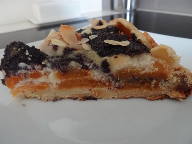 Crostata mit Aprikosen, Marzipan und Mohn - Rezept - Bild Nr. 7830