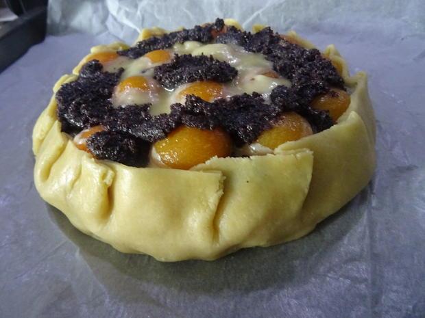 Crostata mit Aprikosen, Marzipan und Mohn - Rezept - Bild Nr. 7831
