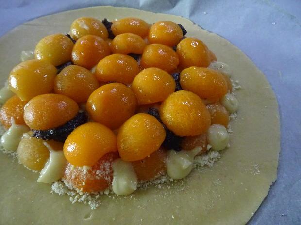 Crostata mit Aprikosen, Marzipan und Mohn - Rezept - Bild Nr. 7835
