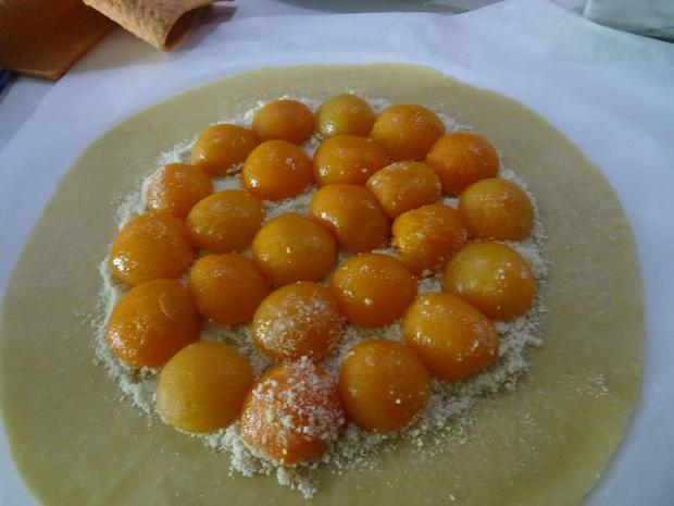 Crostata mit Aprikosen, Marzipan und Mohn - Rezept - Bild Nr. 7837