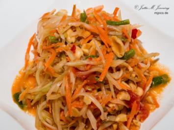 Thailändischer Papayasalat - Som Tam - Rezept - Bild Nr. 7833