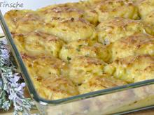 Kartoffelpüree mit Zwiebeln und Käse überbacken - Rezept - Bild Nr. 7859