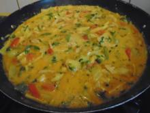 Rotes Thai Curry im Wok - Rezept - Bild Nr. 7867