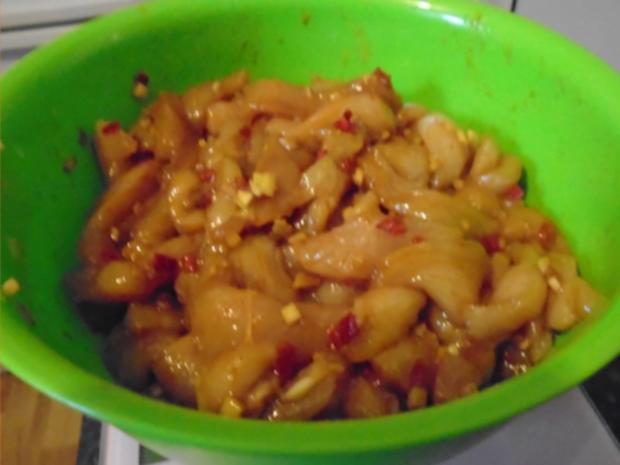 Rotes Thai Curry im Wok - Rezept - Bild Nr. 7874