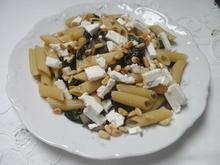 Pasta mit Champignon und Spinat - Rezept - Bild Nr. 7861