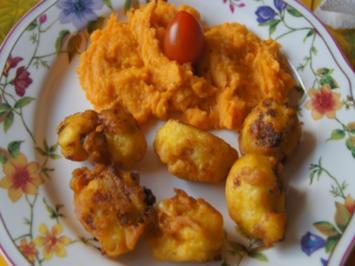 Doppelt frittierter Blumenkohl mit Süßkartoffelstampf - Rezept - Bild Nr. 7855