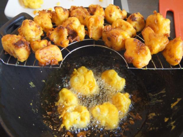 Doppelt frittierter Blumenkohl mit Süßkartoffelstampf - Rezept - Bild Nr. 7881