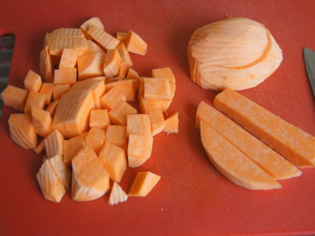 Doppelt frittierter Blumenkohl mit Süßkartoffelstampf - Rezept - Bild Nr. 7883