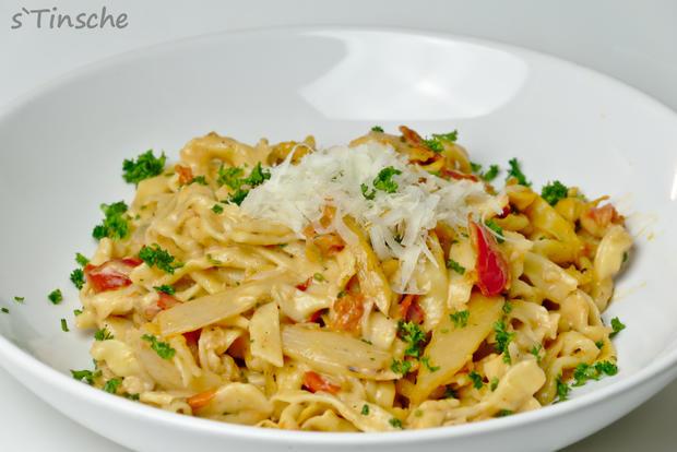 Spargel-Tomaten-Dinkel-Tagliatelle - Rezept - Bild Nr. 4