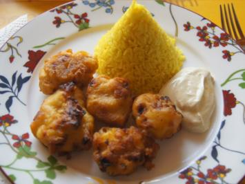Rezept: Würzreis mit pikantem Jogurt Dip und doppelt frittierten Blumenkohl
