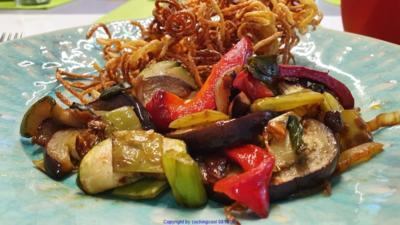Rezept: Biggi`s Pfannengerichte = Gemüsepfanne mit viel Aroma