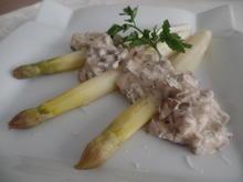 Spargel mit Pilz-Parmesan-Sauce - Rezept - Bild Nr. 7914