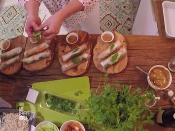 Summer Rolls - Leichte vietnamesische Frühlingsrolle mit knackiger Füllung - Rezept - Bild Nr. 2
