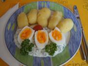 Grüne Sauce mit gekochten Eiern und Pellkartoffeln - Rezept - Bild Nr. 2