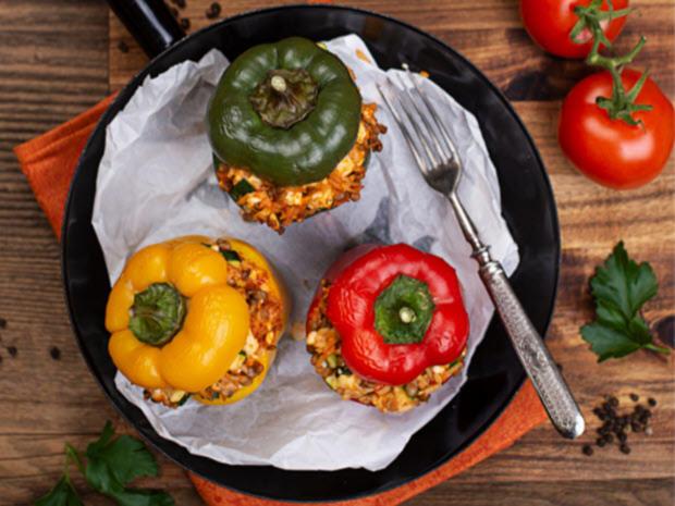 Gefüllte Paprika vegetarisch - Rezept - Bild Nr. 7952