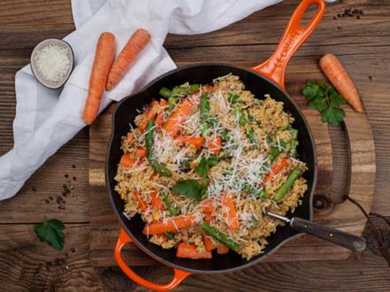 Gemüse-Reis-Pfanne mit grünem Spargel - Rezept - Bild Nr. 3
