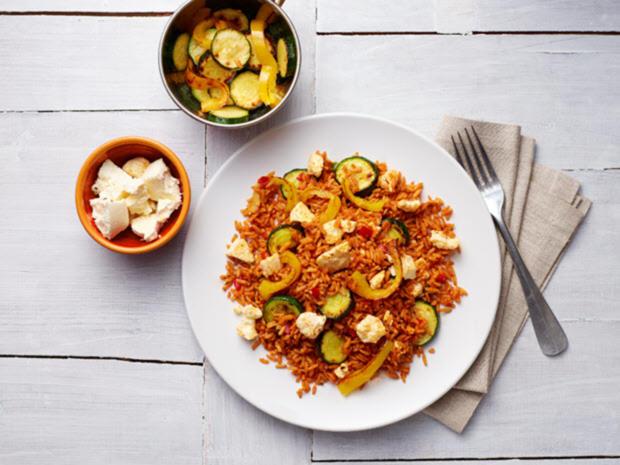 Reispfanne mit mediterranem Gemüse und Feta - Rezept - Bild Nr. 3