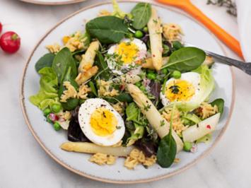 Reis-Salat mit Spargel und Spinat - Rezept - Bild Nr. 3
