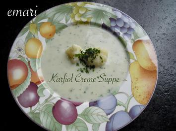 Carola's feine Karfiol Creme Suppe - Rezept - Bild Nr. 8102
