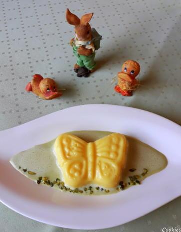Eierlikör - Schokoladen - Pudding auf Pistazien - Soßenspiegel - Rezept - Bild Nr. 7958